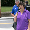 Phase one of the Mechanic Street Park is done and a ceremony to official open the park was held on Wednesday morning, July 17, 2019. Ward 2 Councilor Pauline Cormier addresses the crowd at the ceremony. SENTINEL & ENTERPRISE/JOHN LOVE