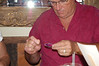 Ross became a jewerly repair man. Sheryl's earring broke