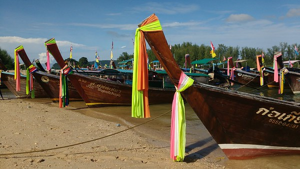 Colorful Longboats Krabi