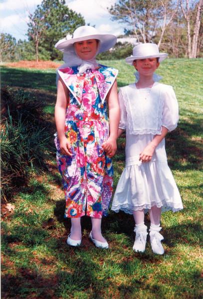 Sarah and Phia, Easter