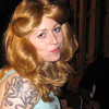 Phia May 2010. The tattoo is real ... but not the hair!