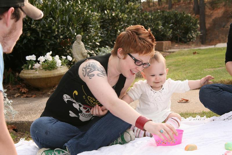 Phia with Carleigh, Easter 2009