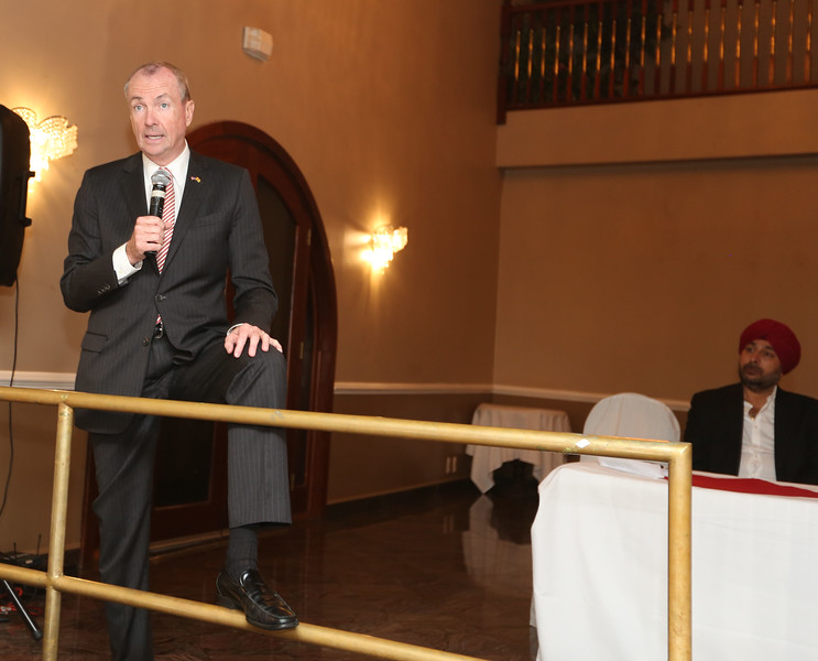 Phil Murphy speaking at the fund raiser...pic Mohammed jaffer Snapsindia
