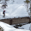 Skiing the aqueduct trail - part of Australian ski touring conditions