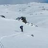 Ski to causeway over Pretty Valley Reservoir
