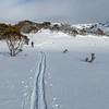 Ski to toilet at Pretty Valley Hut