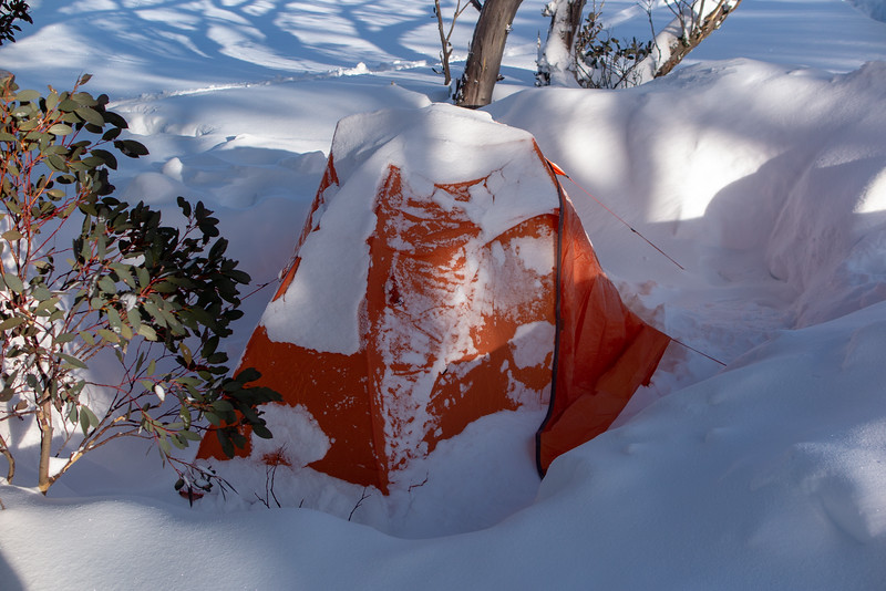 Tent at Pretty Valley Hut