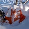 Tent at Pretty Valley Hut