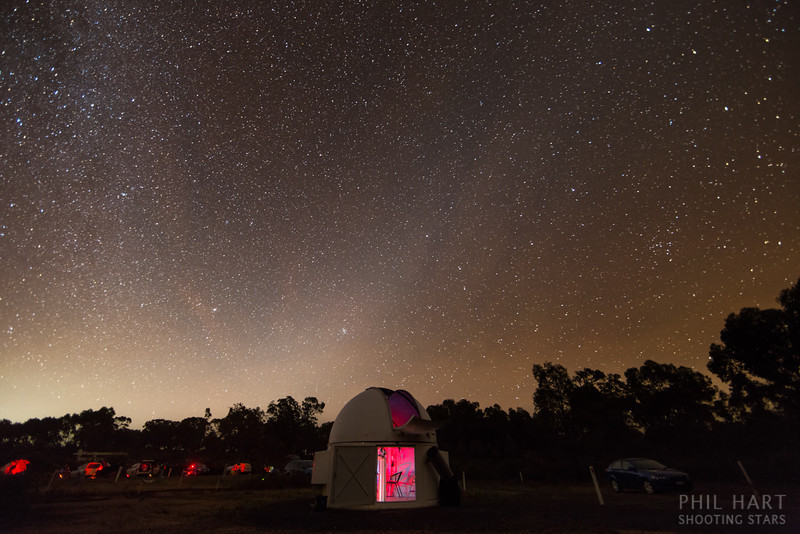 Observatory and Zodiacal Light from the Astronomical Society of Victroria's Leon Mow Dark Sky Site, near Heathcote in central Victoria.