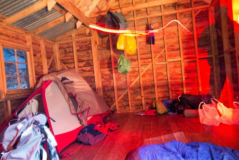 Inside Broken Dam Hut