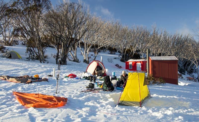 Camping at Valentine's Hut