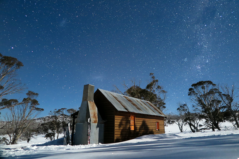 Night Sky over Broken Dam Hut