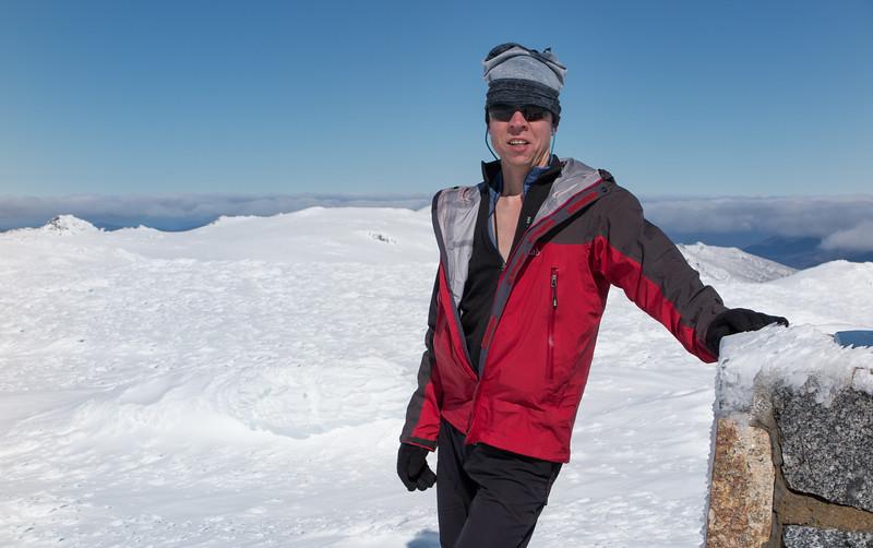 Phil at Mt Kosciuszko