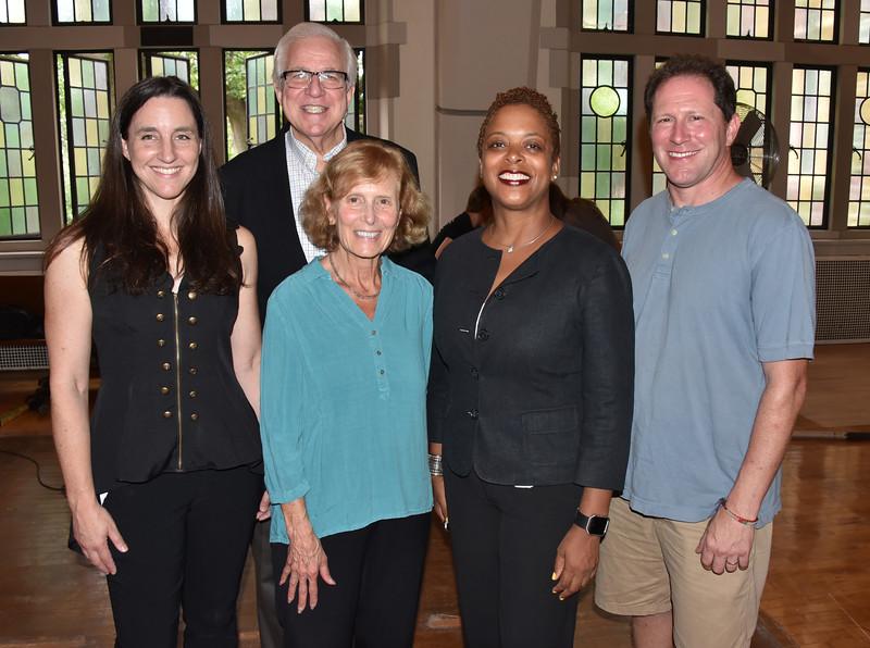 Shana Kennedy, Bruce Caswell, Carol Caswell, Councilwomen Cindy Bass and Bruce Mandell