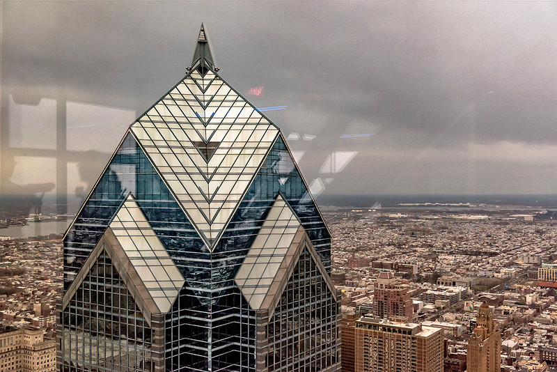 Two Liberty Place, Overcast, Philadelphia Below