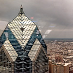 Two Liberty Place, Overcast, Philadelphia Below