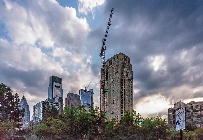 Callowhill Street View, Philadelphia Skyline