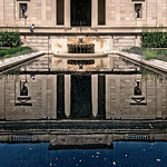 Rodin Museum Pool Building Reflection