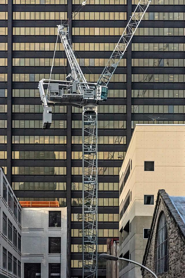 Crane, Architecture, South 24th Street (detail)