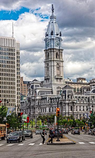 City Hall, Cloudy Sky