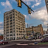 Office Buildings, Intersection, Clouds, Blue Sky