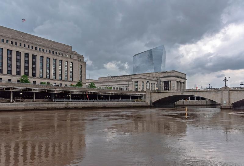 Rain Clouds, Schuylkill River, 30th Street