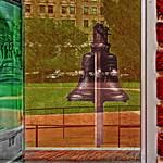 Liberty Bell Reflection Thru Glass