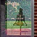 Liberty Bell Glass Reflection