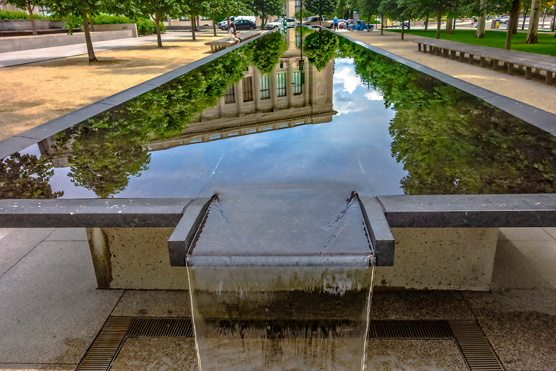 Free Library of Philadelphia Water Reflection