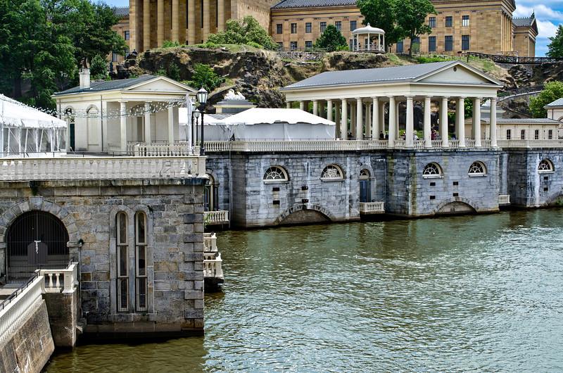 Schuylkill River, Water Works & Philadelphia Art Museum