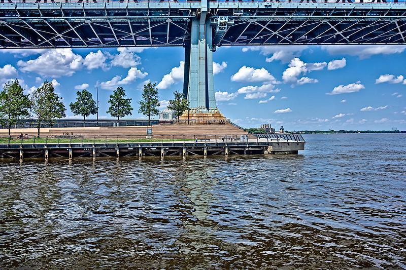 Ben Franklin Bridge, Six Trees, Delaware River