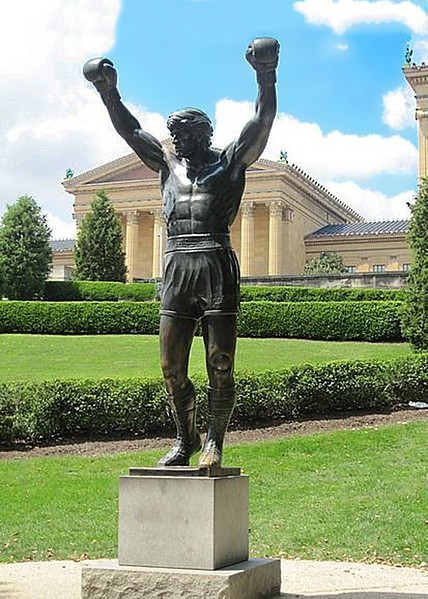 Rocky Statue in Front of the Art Museum in Philadelphia