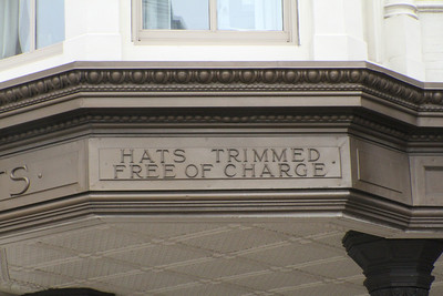 Hats Trimmed Free of Charge