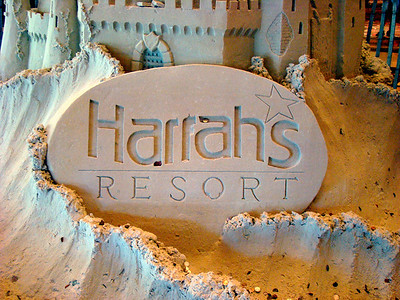Harrahs Resort in sand
