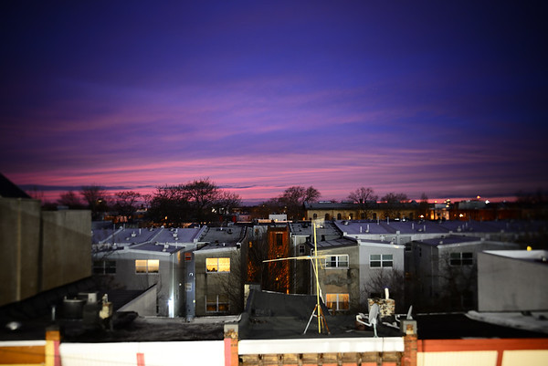 Rooftop View after Sunset---Philadelphia, PA