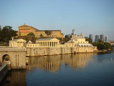 Water Works Restaurant and the Philadelphia Art Museum