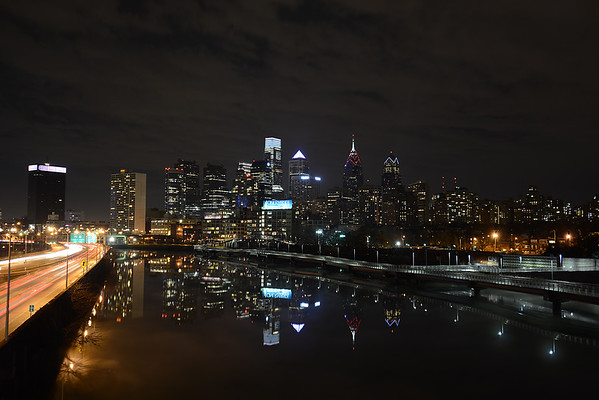 Philly Night Skyline - 1-4-15