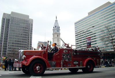 Fire Truck in front of City Hall