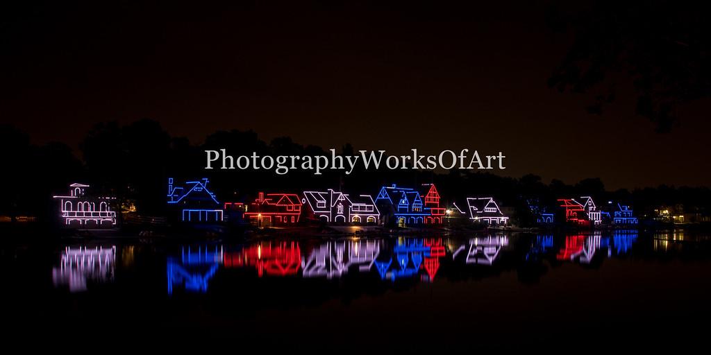 Boathouse Row Reflection Pano