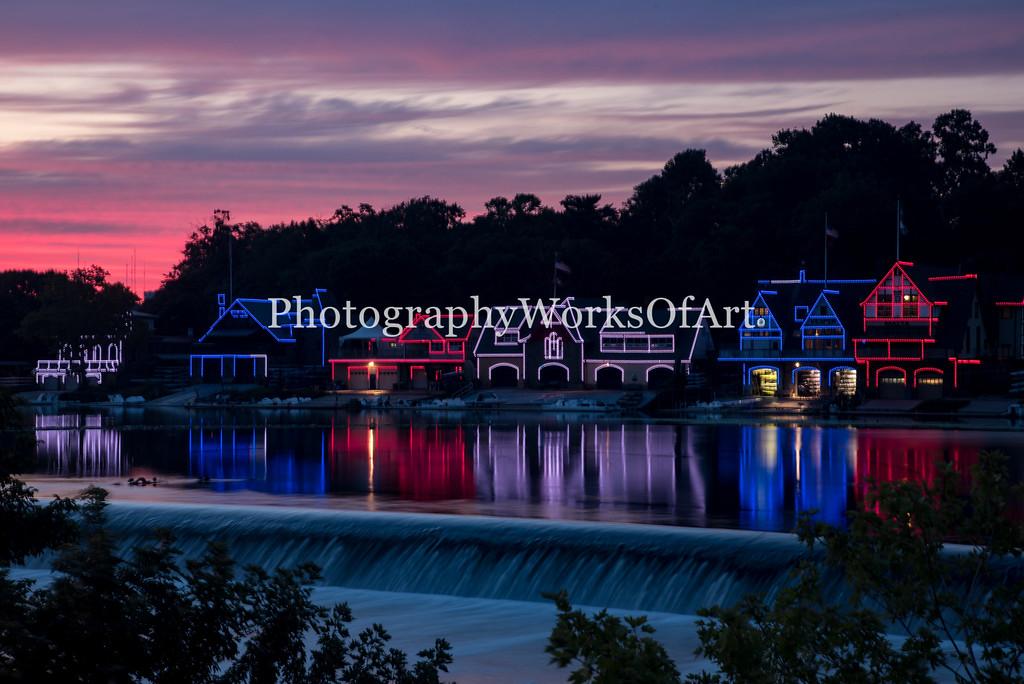 Boathouse Row Sunset II