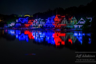 Boathouse Row in Patriotic Color