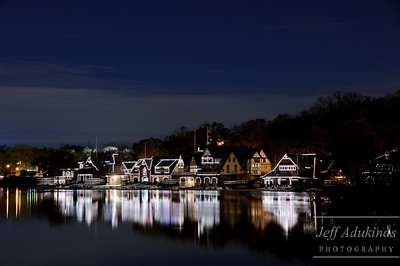 Boathouse Row on a Calm River