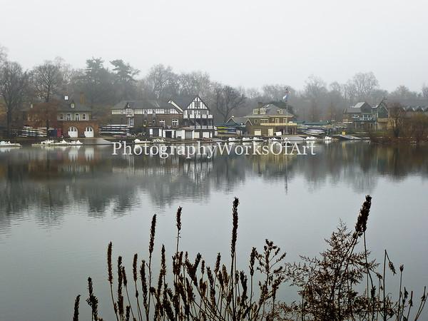 Foggy Boathouse Row