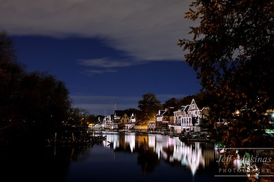 Boathouse Row at Dusk