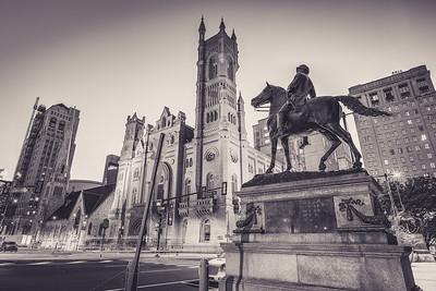 Solder on Horse Statue Philadelphia