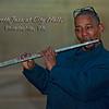 Flautist Curt Edwards plays at City Hall\.