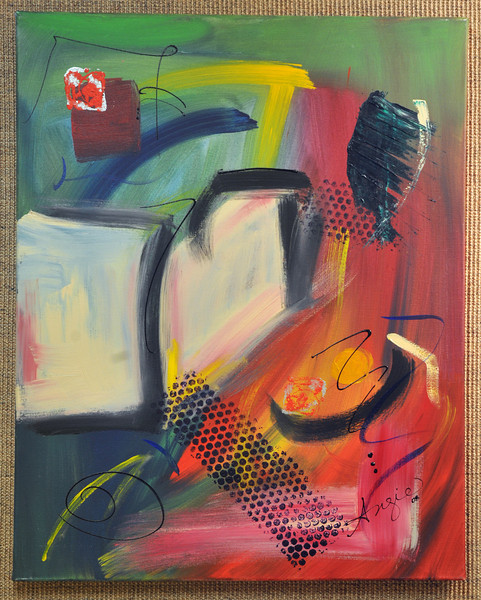 Artist: Angie Hutcherson<br /> Title: Windows of Opportunity<br /> Medium: Acrylic on Canvas