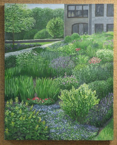 Artist: Theresa Lannen<br /> Title: Fairlane Windy Day<br /> Medium: Oil on Canvas