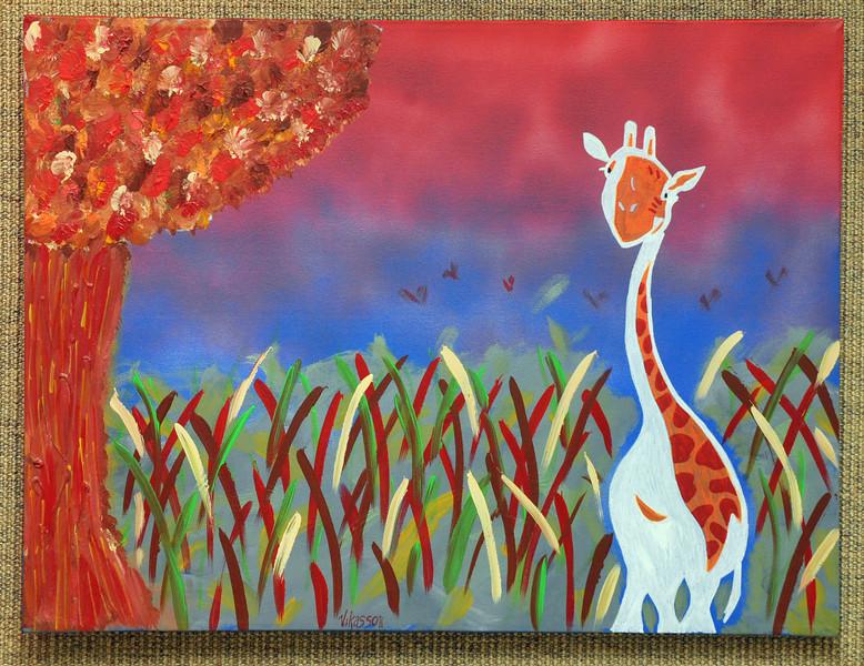Artist: Vikas Relan<br /> Title: Serengeti<br /> Medium: Acrylic on Canvas