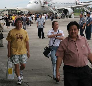 We arrive in Bacolod. Carl, Angela, Robert Sy.